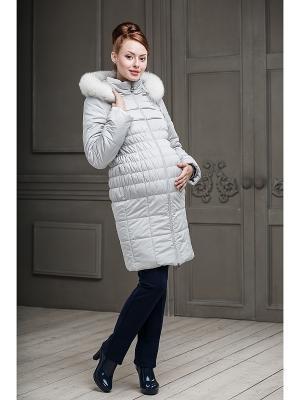 Пальто DIDILIYA. Цвет: светло-серый