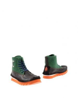 Полусапоги и высокие ботинки ESSENCE. Цвет: темно-коричневый