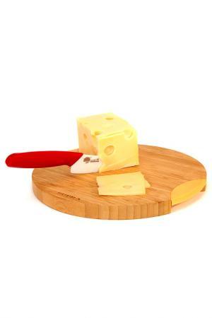 Нож для сыра 137 мм Supra. Цвет: белый, красный