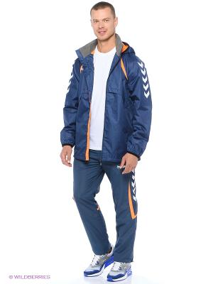 Ветровкa TEAM PLAYER ALL WEATHER JACKET HUMMEL. Цвет: синий