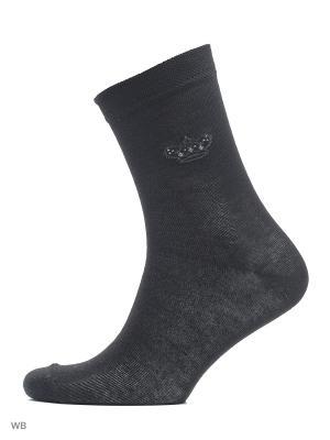 Носки, 5 пар Золотая игла. Цвет: черный, бежевый, темно-серый