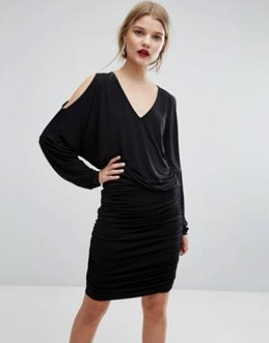 Gestuz Платье с вырезами на плечах Pen. Цвет: черный