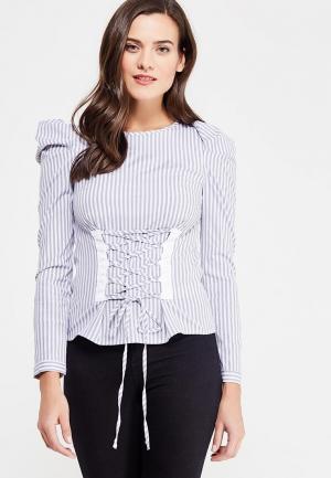 Блуза Miss Selfridge. Цвет: серый