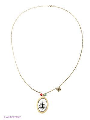 Медальон Kawaii Factory. Цвет: золотистый