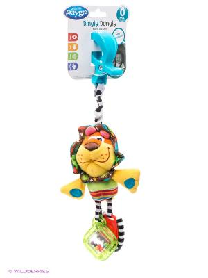 Игрушка-подвеска Львенок Playgro. Цвет: желтый