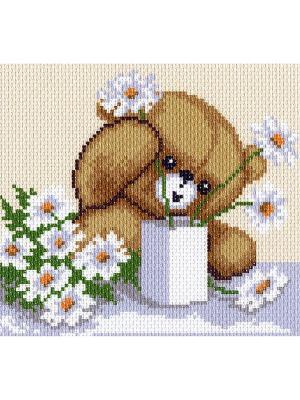 Рисунок на канве Цветы для мамы Матренин Посад. Цвет: коричневый