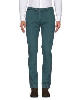Повседневные брюки B SETTECENTO. Цвет: цвет морской волны