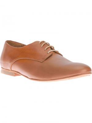 Туфли дерби Mario 36 B Store. Цвет: коричневый