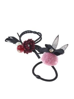Резинка для волос (Комплект - 2 шт.) Infiniti. Цвет: красный, розовый, черный