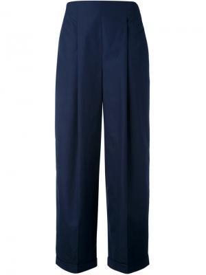Широкие брюки Salvatore Ferragamo. Цвет: синий