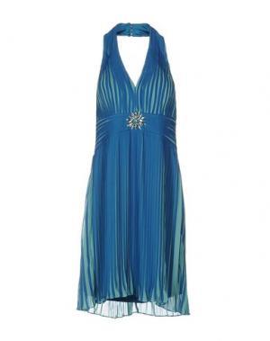 Платье до колена MUSANI COUTURE. Цвет: синий