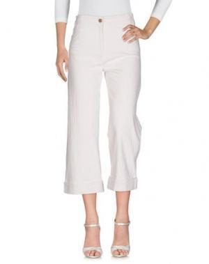Джинсовые брюки SESSUN. Цвет: белый
