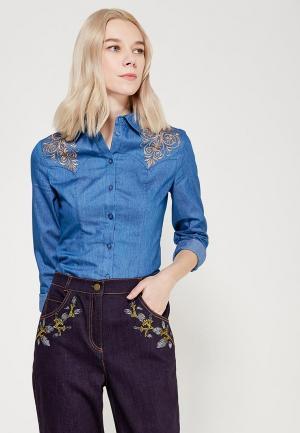 Рубашка джинсовая Ksenia Knyazeva. Цвет: голубой