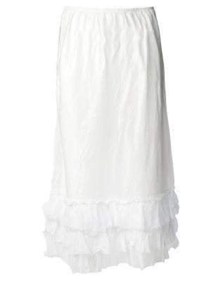 Длинная гофрированная юбка Dosa. Цвет: белый