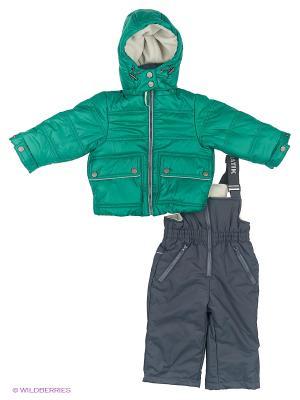 Комплект Брукс Батик. Цвет: зеленый, темно-серый