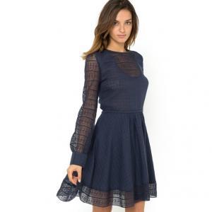 Платье с длинными рукавами MUNA, 100% хлопка GAT RIMON. Цвет: бордовый