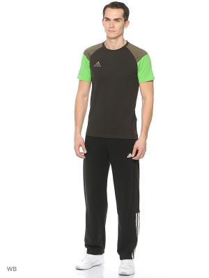 Футболка спортивная муж. CON16 TEE  NBROWN/BRANCH/SESOLI Adidas. Цвет: коричневый