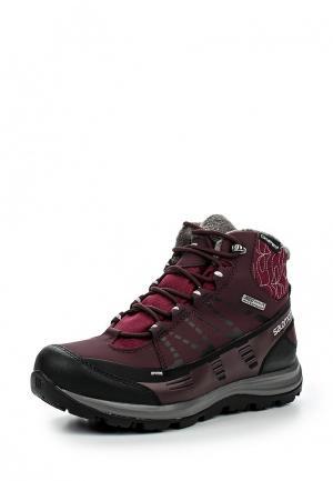 Ботинки Salomon. Цвет: бордовый