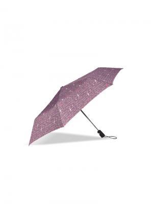 Зонт Isotoner. Цвет: сиреневый, розовый, белый
