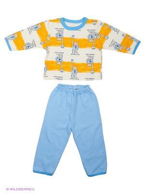 Пижама Babycollection. Цвет: оранжевый