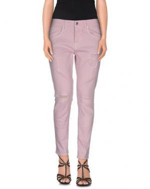 Джинсовые брюки GAëLLE Paris. Цвет: сиреневый