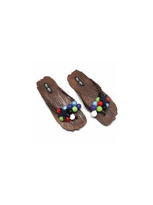 Сланцы Bark (коричневые/brown)(39-40) Kawaii Factory. Цвет: коричневый