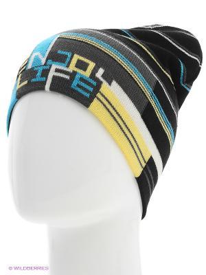 Шапка Maxval. Цвет: черный, синий, желтый