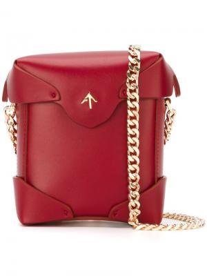 Мини сумка через плечо Pristine Manu Atelier. Цвет: красный