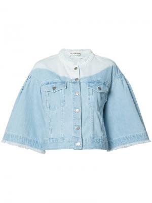 Джинсовая куртка с расклешенными рукавами Ulla Johnson. Цвет: синий