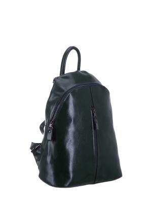 Рюкзак S16655A натуральная кожа Sara. Цвет: зеленый