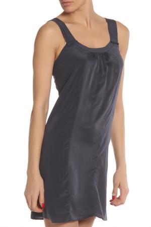 Необычное полупрозрачное платье Liu Jo. Цвет: синий