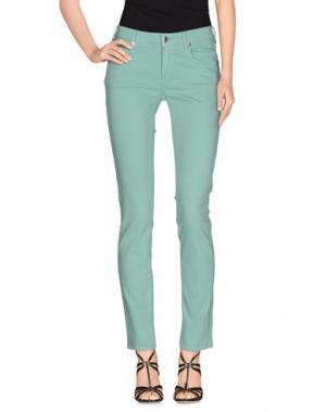 Джинсовые брюки M.GRIFONI DENIM. Цвет: светло-зеленый