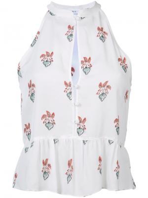 Блузка с расклешенным подолом A.L.C.. Цвет: белый