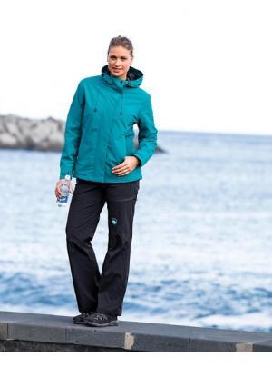 Куртка POLARINO. Цвет: зелено-синий