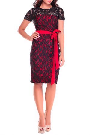 Платье Dioni. Цвет: красный, черный