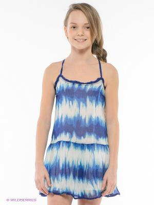Платье PEPE JEANS LONDON. Цвет: синий, белый