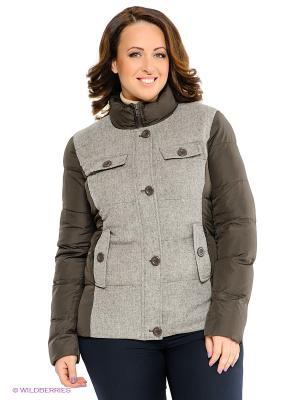 Куртка Neohit. Цвет: серо-коричневый, серый