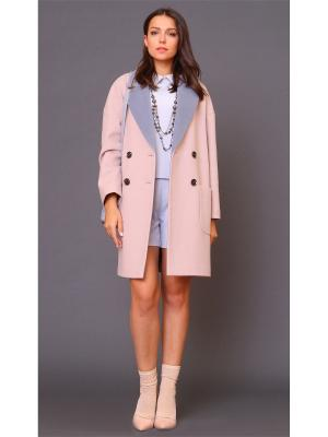 Пальто MARI VERA. Цвет: розовый, серый