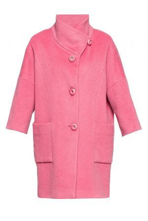Пальто из шерсти и мохера 191542 Mouche. Цвет: розовый
