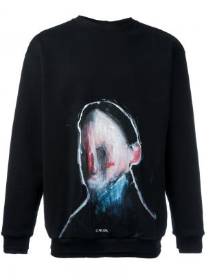 Painted design sweatshirt Icosae. Цвет: чёрный
