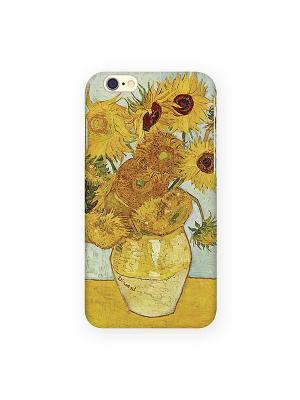 Чехол для IPhone 6 Подсолнухи Ван Гога Mitya Veselkov. Цвет: желтый, зеленый, красный