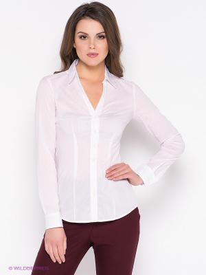 Рубашка Oodji. Цвет: бледно-розовый, белый