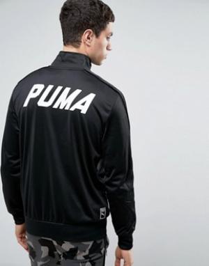 Puma Черная спортивная куртка. Цвет: черный