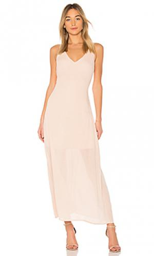Макси платье inez Line & Dot. Цвет: peach