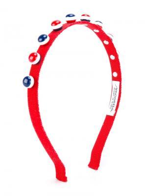 Декорированный ободок для волос Simonetta. Цвет: красный