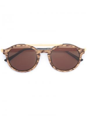Солнцезащитные очки в круглой оправе Thierry Lasry. Цвет: коричневый
