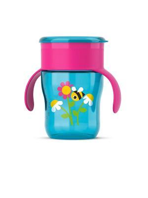 Взрослая чашка Philips Avent SCF782/20, 260 мл, 12 мес.+. Цвет: голубой, фиолетовый