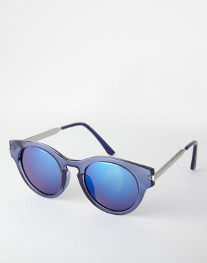 Круглые солнцезащитные очки  Crystal Trip. Цвет: синие зеркальные