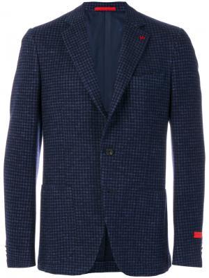 Классический пиджак Isaia. Цвет: синий