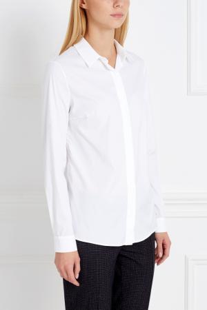 Хлопковая рубашка Alexander Terekhov. Цвет: белый